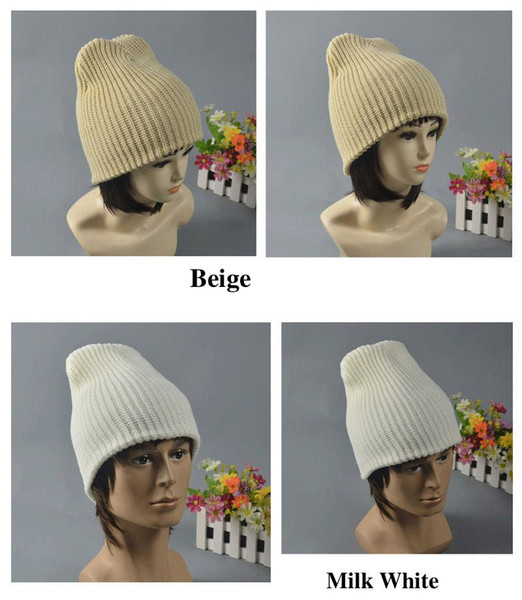 341a845cef Fashion Winter Hats for Women or Men Hand Knitted Beanie Hat Balaclava Mask  Two Sides Wear Z-1336