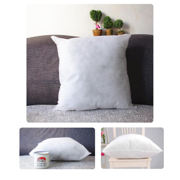 top popular Wholesale-40X40 cm Throw Pillow Inner PP Cotton filler very soft Pillows Core pillow interior cushion filling Vacuum packing free shipping 2019
