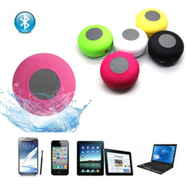 Portable Waterproof Wireless Bluetooth Speaker BTS-06 Shower Car Handsfree Receive Call mini Suction IPX4 speakers box player Mic Promotion
