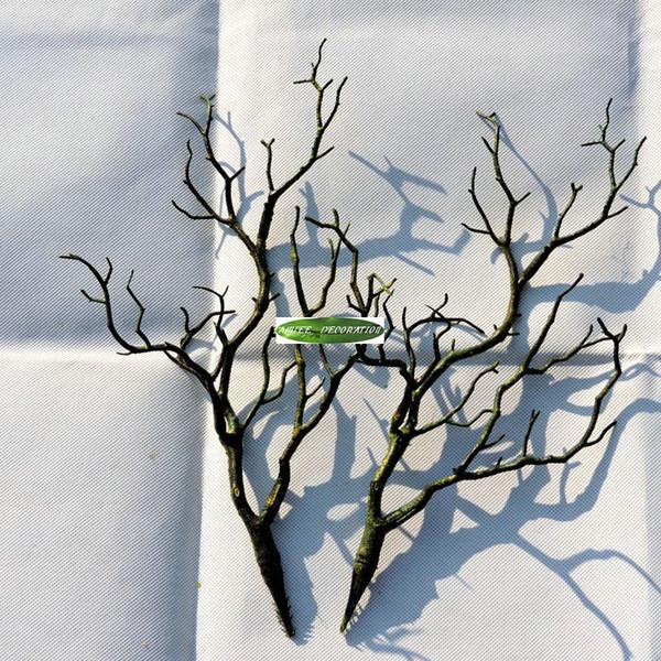 3 stücke 36 cm Manzanita Trockenen Künstliche Gefälschte Laubpflanze Baum Zweig Hochzeit Home Kirche Büromöbel Grün Weiß Dekorative Blumen