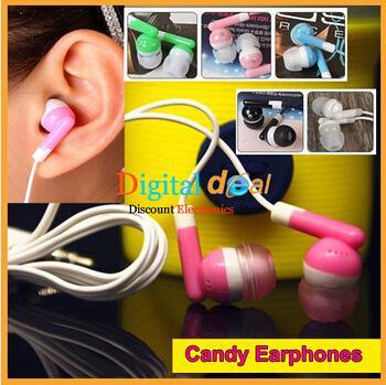 Süßigkeitfarbe preiswerter schwarzer 3.5mm Inohr Kopfhörerkopfhörer für iphone 3 4 5 6 für MP3 MP4 für altes Nokia-intelligentes Telefon