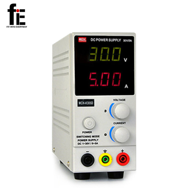 Freeshipping mini DC Power Supply Precision Variable Adjustable 30V 5A LAB GRADE 220V with Test line Current Meters
