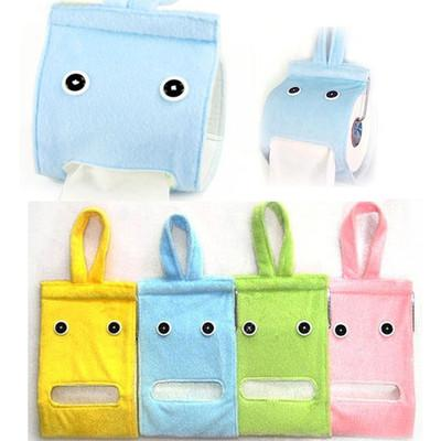 Free Shipping Cute Hanging Plush Cloth Paper Tissue Holder Case Box Cover Dispenser Container FZ1256