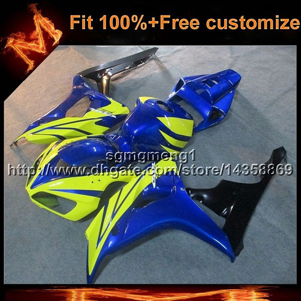 23colors+8Gifts Injection mold YELLOW BLUE motorcycle panels Body Kit For Honda CBR1000RR 2006-2007 06 07 motor cover ABS Plastic Fairing