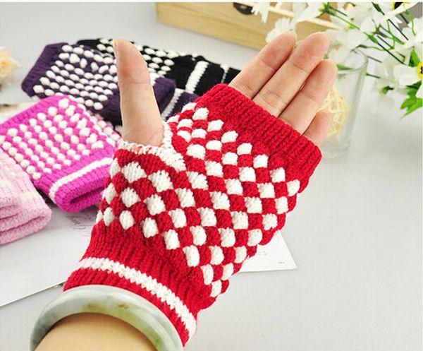 Зима тепло высокое качество женщина и мужчина шерсть пальцев перчатки компьютерный ввод перчатки ананас волшебные перчатки ананас половина перчатки точка