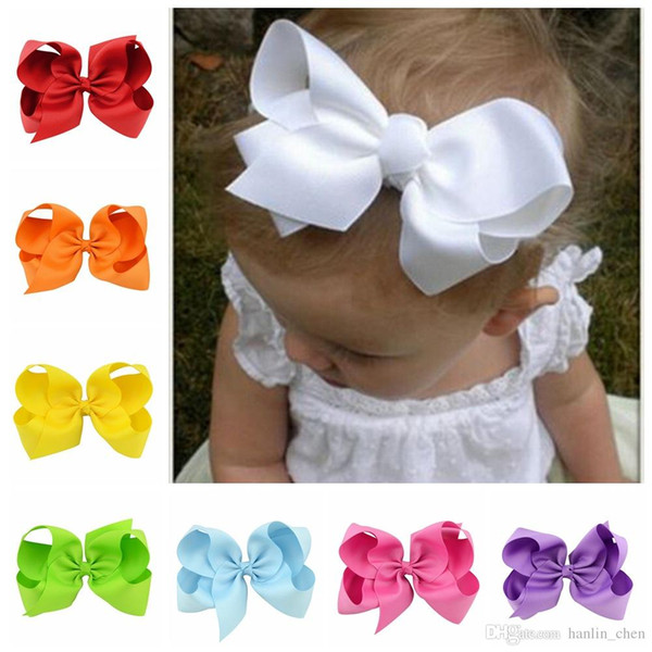 2018 Time-limited Mix Color Zl Multi-color Alice Flower Hair Bows Duckbill Folder Hairband 6 Inches Fashion Hot Ribbon Children Clips 588