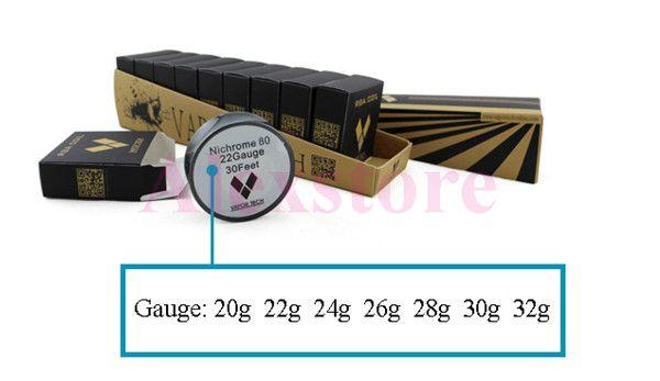 Nichrome 80 Draht Heizung Widerstand Spule Docht 30 Fuß Spule AWG 22 24 26 28 30 32 Gauge für DIY RDA Zerstäuber DHL