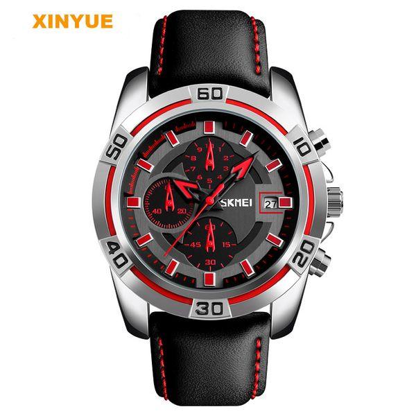b78c552cc1e Multifunções relógio de quartzo estilo esportivo relógios três olhos relógio  de pulso homens moda relógios de