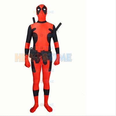 Newest Hot Deadpool costume Spandex Deadpool superhero Costume free shipping