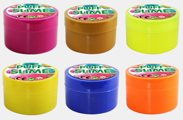 best selling hot sale Cotton mud slime PUFF SLIME plasticine DIY poking puddles decompression vent toys Factory Outlet
