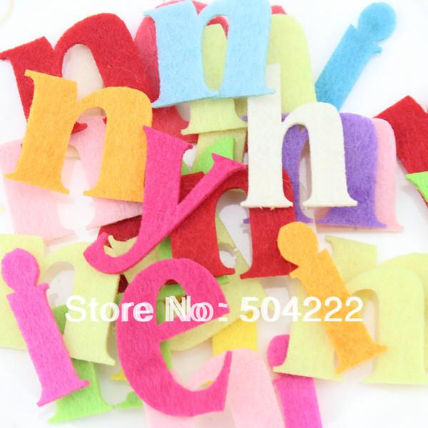 500 unids 40 mm tela de lana Carta de Fieltro Alfabeto color mezclado juguetes educativos apliques parche para DIY arte de la aguja -BY0121