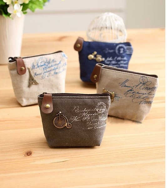 новый холст мешок монет брелок ключи бумажник кошелек изменения карманный держатель организовать косметический макияж сортировщик