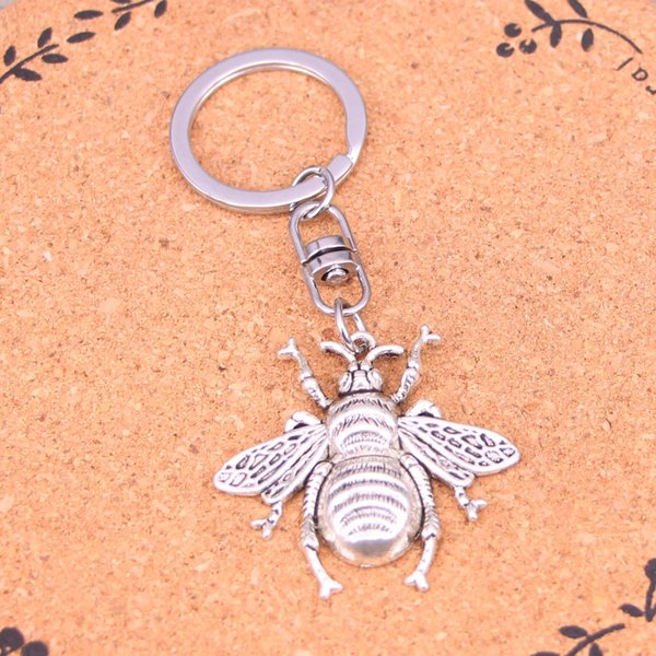 New Arrival Novelty Souvenir Metal hornet honey bee Key Chains Creative Gifts Apple Keychain Key Ring Trinket Car Key Ring