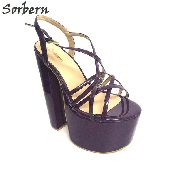 Sorbern Shiny Custom Plus Size Summer Sandals for Women Shoes Extreme High Heels Large Size Fetish Sandalias Mujer 2017 Size 46