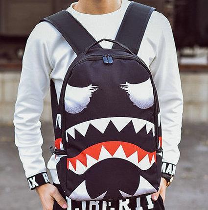 26e931813cd7cf Marvel venom shark backpack Sprayground packsack Popular design picture  daypack Street pack bag Canvas rucksack Spray