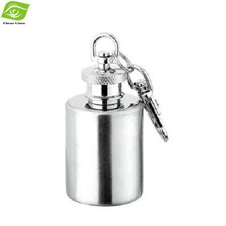 Outdoor Portable Hip Flask 1OZ Stainless Steel Flagon With Keychain Whiskey Wine Bottle, dandys
