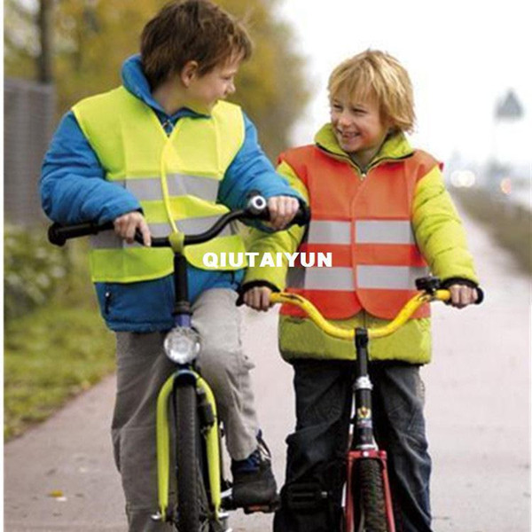 reflective safety vest coat Sanitation vest Traffic safety warning clothing vest cloth boys girls 2-6 years outdoor children's clothes WY228