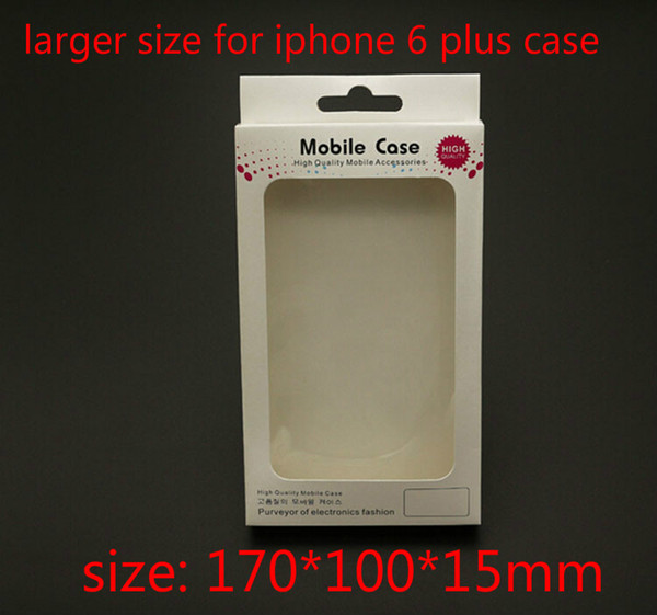 Retail Package Paper Plastic Packaging Packing Box Boxes For Mobile Phone Case Accessories iPhone 6 plus for Samsung Galaxy case