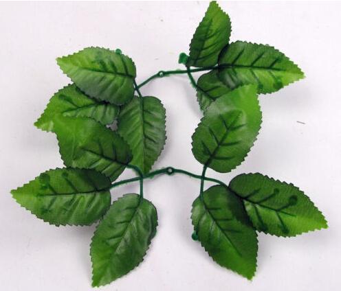 100pcs Green Artificial Rose Leaf Leaves For Bouquet Garland Wreath Cap Decor