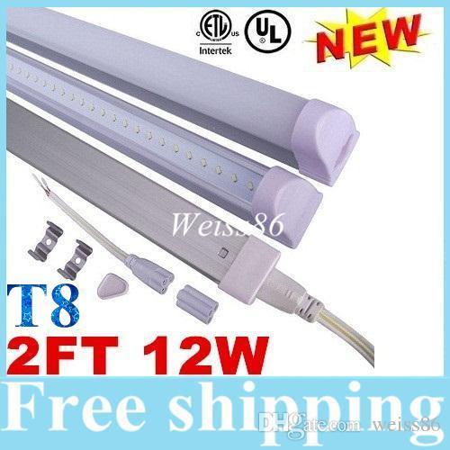 Super helle 12W 2ft 0.6m T8 Integration führte Rohr-Licht-Leuchtstofflampe Wechselstrom 110-277V warm / natürliches / kühles Weiß 2835 SMD 20lm / SMD + UL-CER cUL