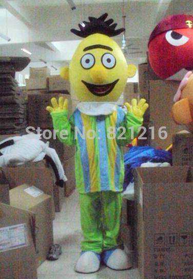 Großhandels-Neue Ankunfts-heißer Verkauf Ernie Bert Maskottchen-Kostüm Seseme-Straßen-Maskottchen-Kostüm Freies Verschiffen