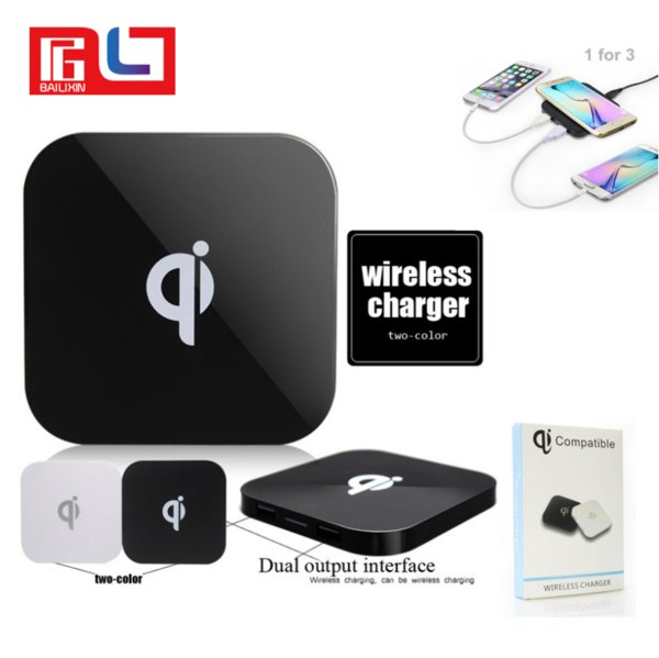 Q8 Qi Wireless Charger Charging Pad for Samsung S7 S7 Edge S8 plus Iphone 8 X with Free Shipping