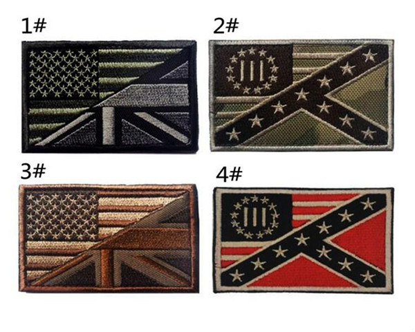 VP-240 US flag UK flag embroidery tactical patch with magic stick Armband patches Army patch jacket/cap morale patch