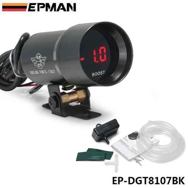 best selling EPMAN - - 37mm METER GAUGE COMPACT MICRO DIGITAL SMOKED BOOST BAR GAUGE UNIVERSAL 4-6-8 CYLINDER ENGINES EP37BKBOOST