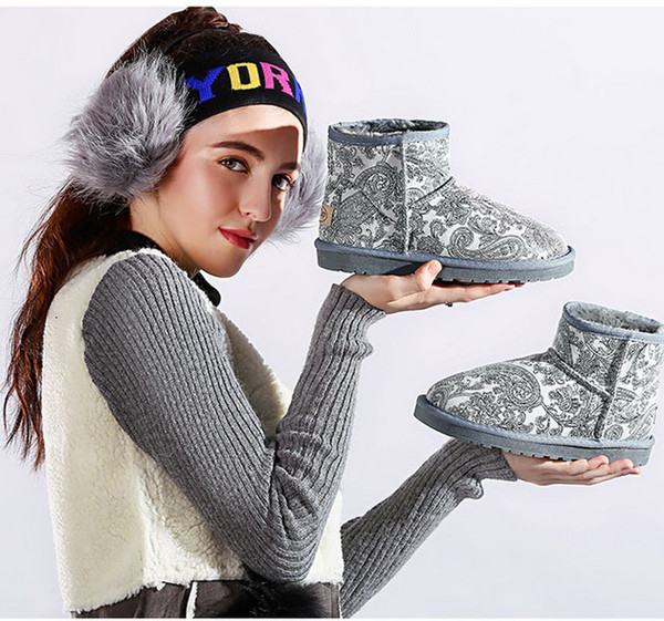 hot 2017 winter warm snowboots women whosale price hgih quality female genuine leather shoes size 35-40