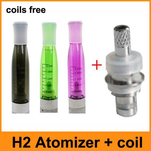 Mais novo GS-H2 GS Atomizador H2 Clearomizer Comprar Atomizador Enviar bobinas E bobinas de cigarro Substituível Cartomizer Fit Para baterias eGo 510 Threading