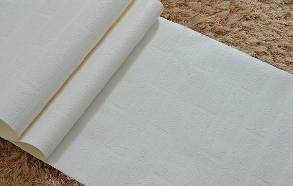 top popular 3d design wallpaper PVC wallpaper roll white wallpaper modern vinyl wallpaper brick for livingroom bedroom tv background wall 2019