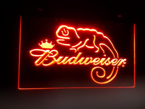 b-11 Budweiser Frank Lizard Beer Bar LED sinais de luz de néon