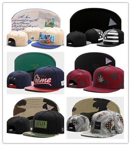 Sıcak Yağma marka Cayler Sons kahverengi Deri Snapback hip hop spor kap beyzbol şapka erkekler kadınlar için kemikler snapbacks kemik gorras yüksek kalite