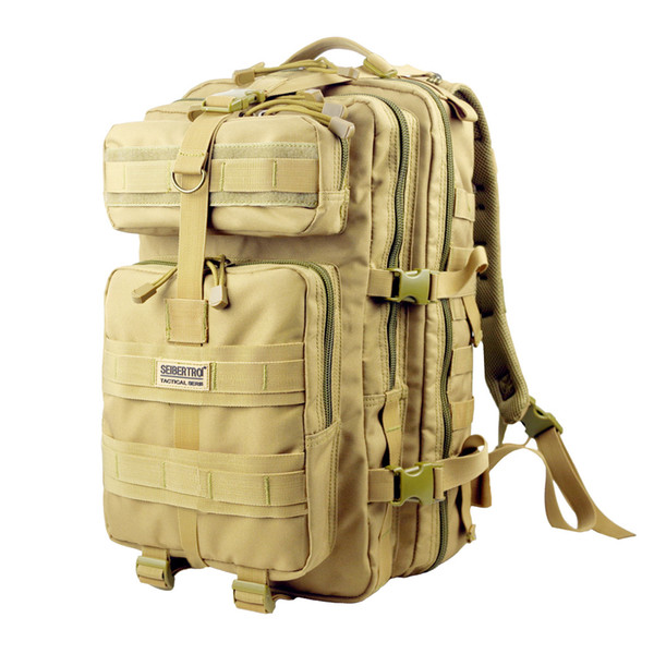 New Tactical Backpacks Outdoor Backpacks MOLLE EDC 48L Nylon Fabric Solid Compact Assault Pack Summit Bag 900D