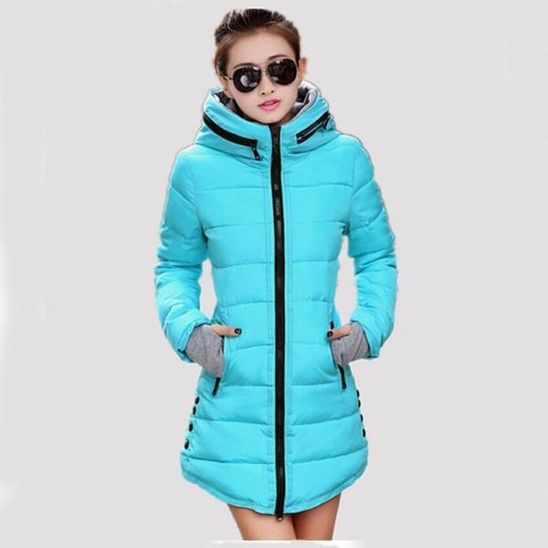 Women's Winter Jacket 2017 New Medium-long Down Cotton Female Parkas Plus Size Winter Coat Women Slim Ladies Jackets And Coats