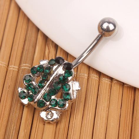 D0493 (1 цвет) лягушачий пупок кольцо, пирсинг украшения для тела Кольцо пупка, крепление BELLY BAR (10 шт. / Лот) JFC-5464