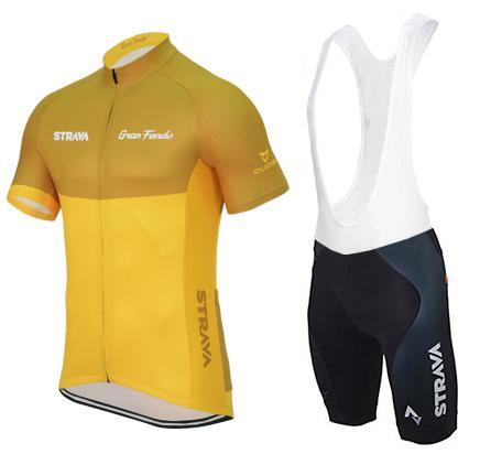 Strava ciclismo jersey esporte jersey MTB bicicleta de corrida respirável ciclismo roupas bicicleta esporte terno novo verão estilo amarelo