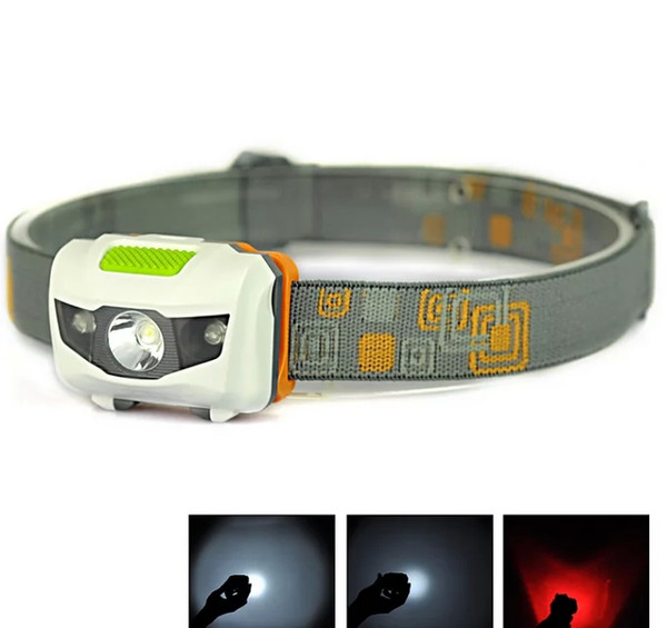 top popular Mini Portable Headlamp 600LM Headlight Cree R3 Headlamps 2 LED Flashlight Headlights Torch Lanterna With Headband Hiking Camping 2019