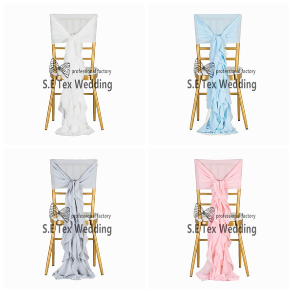 New Design Chiffon Chiavari Chair Cover \ Wickle Chair Hood Sash For Event And Wedding Decoration