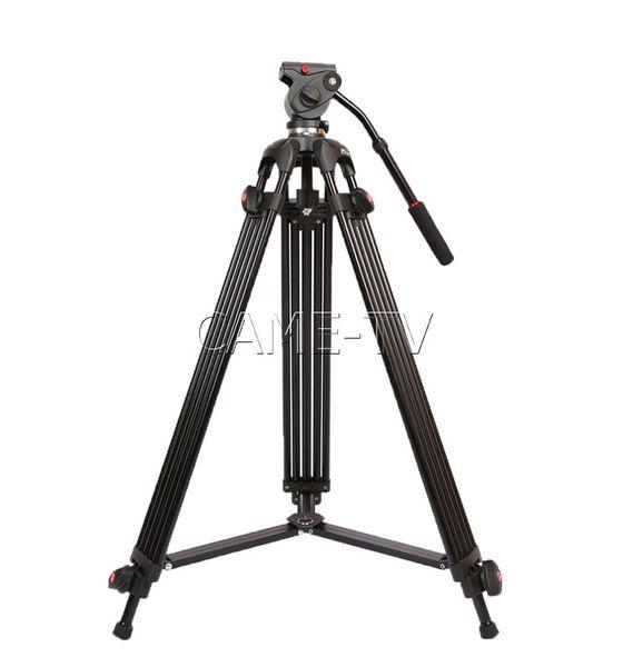 Mini trípode video carga 5 kg 11 lbs aluminio fluido cabeza