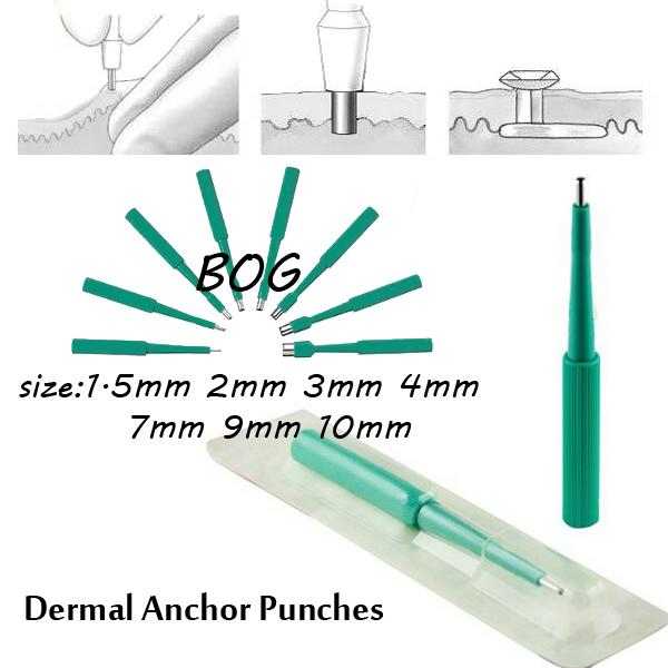 Wholesale-DAR-Free Shipping Lot of 10pcs Biopsy Dermal Punch Sterilized Disposable Punches for Dermal Anchors Piercing Tools
