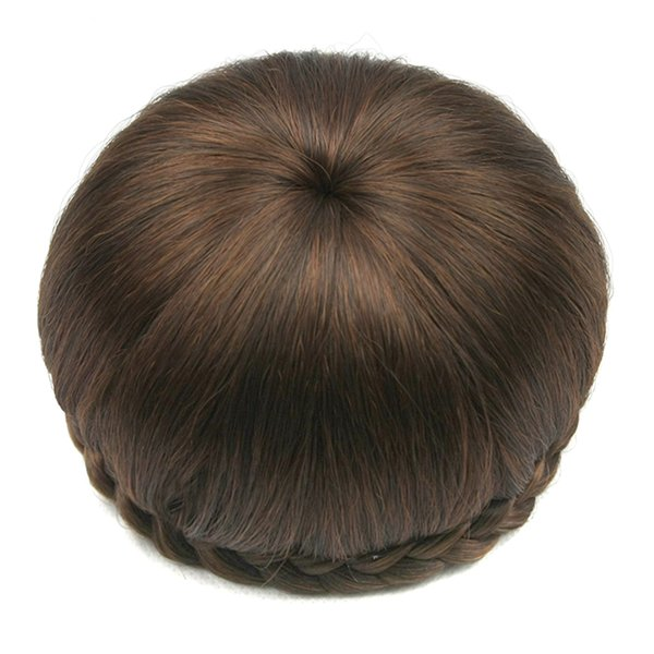 6 Colors Synthetic Hair Clip In Hair Brown Black Braided Chignon Donut Roller Hairpiece Hair Bun Accessories for Women