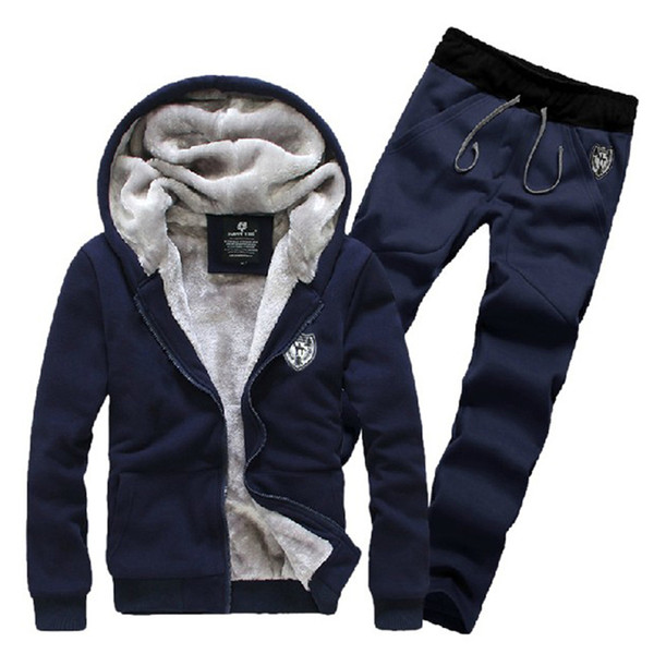 Wholesale-2015 new autumn winter fashion men's sports suit jacket+pants thick hoodies fleece assassins creed Tracksuit hooded clothing