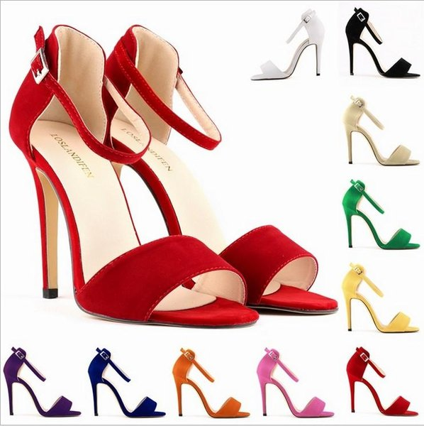 LADY SEXY PARTY OPEN TOE BRIDAL Flock HIGH HEELS SHOES SANDALS 10 colors avalaible