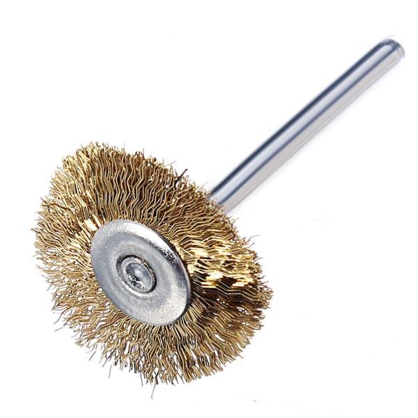 High Quality Hot Sale 9pcs Wire Brass Brush Brushes Wheel Dremel Accessories for Rotary Tools order<$18no track