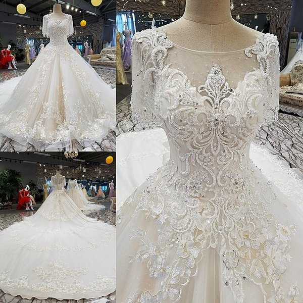 LS00248 o-neck gown beach casual wedding dresses patterns for mature women moroccan wedding dresses for sale