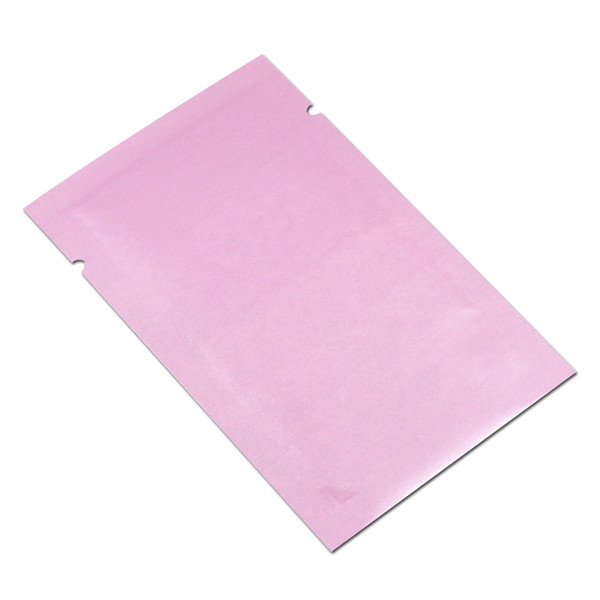 Shiny Pink Open Top Aluminum Foil Bag Heat Vacuum Seal Tear Notch Mylar Foil Food Package Pouch Coffee Packaging Bags