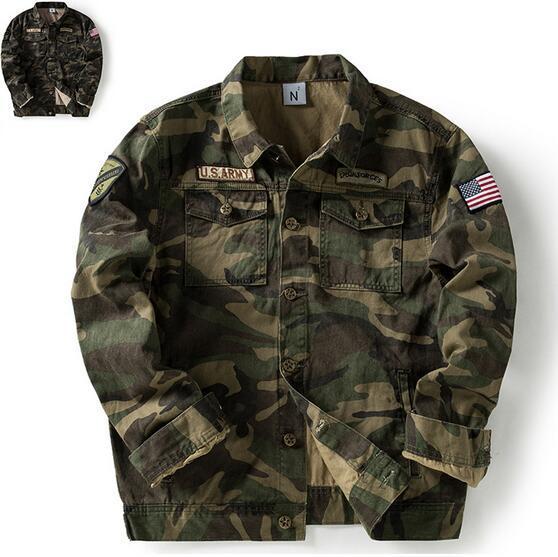Top Super US Army Green Men Chaquetas Moda camuflaje Otoño Primavera abrigos abrigos MA piloto Hombre Hombre Punk niño Hiphop Hoodies Outwear