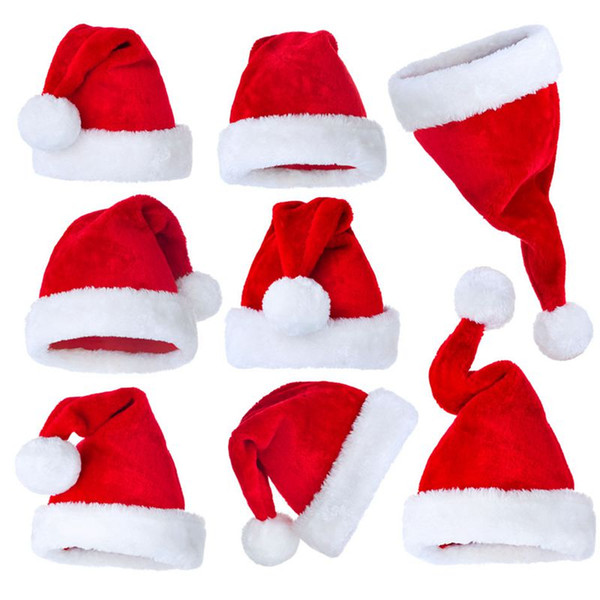 best selling Cheap Christmas Decoration Hats High-Grade Christmas Hat Santa Claus Hat Cute Children Kids Adults Non-Woven X Mas Party Cosplay Hats 500pcs