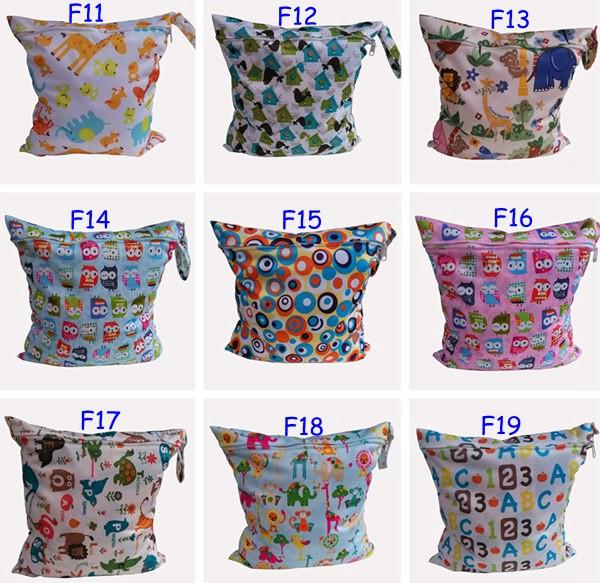 best selling 50Pc Baby Wet Dry Diaper Bags One Zippered Baby Diaper Bag Nappy Bag Waterproof Reusable Soft Minky Little Birds Retail Wholesale Swimmer